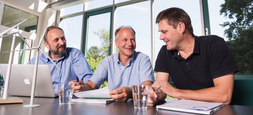 WindGuard Managing Directors Gerhard Gerdes, Axel Albers, Dr. Knud Rehfeldt