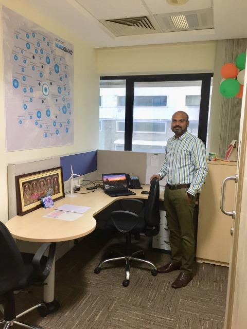 Dr. Kumaravel Rathinavel at the office of Deutsche WindGuard India
