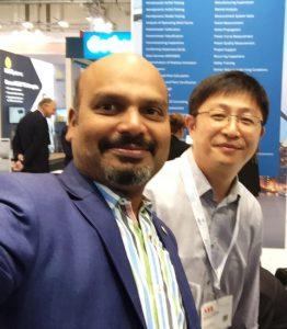 Wang Yang and Kumaravel Rathinavel at Hamburg Wind Energy 2018