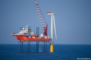 Offshore wind farm construction in Europe