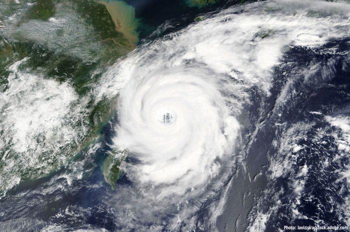 Typhoon heading towards China and Taiwan